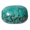 Turquoise 16x11mm Capsule Stabilized Green
